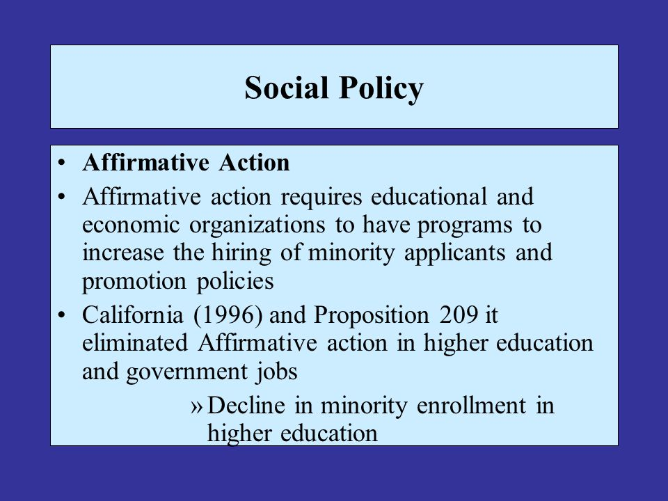 thesis on affirmative action in higher education Coalition to defend affirmative action solutions to the economic and racial divide in higher education need not maintain such a narrow focus.