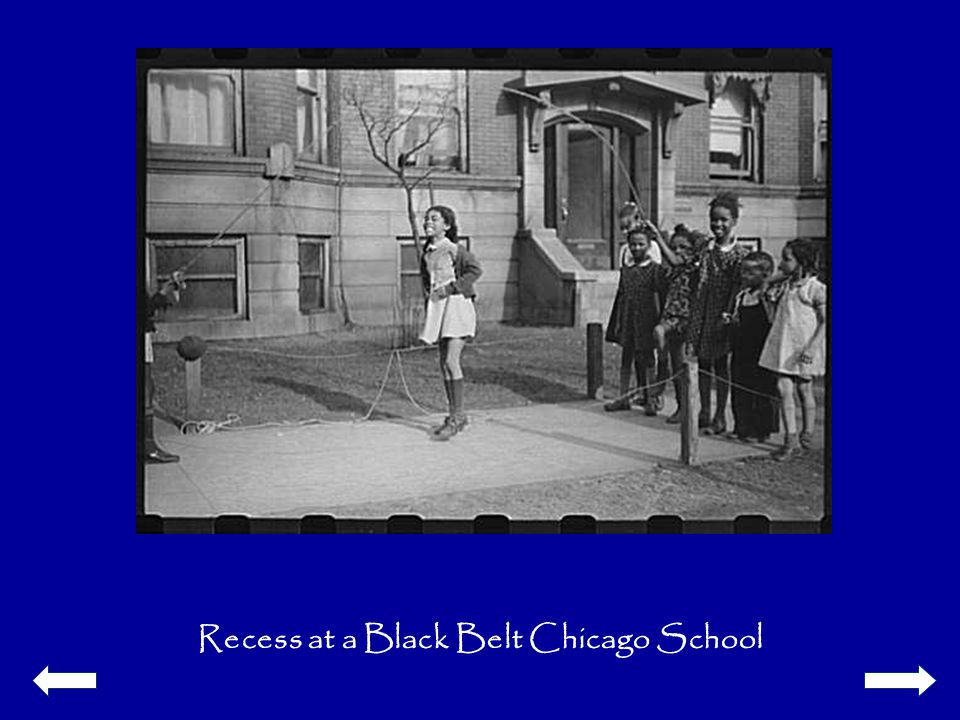 Recess at a Black Belt Chicago School