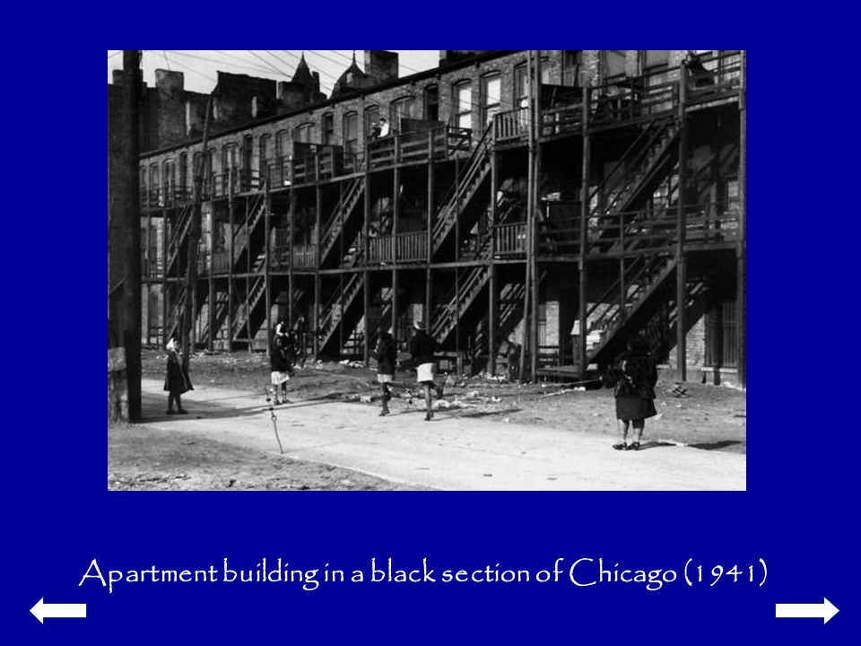 Apartment building in a black section of Chicago (1941)