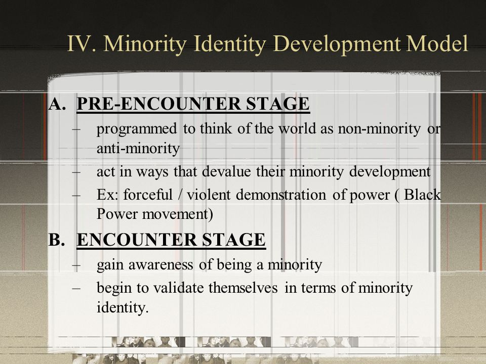 IV. Minority Identity Development Model