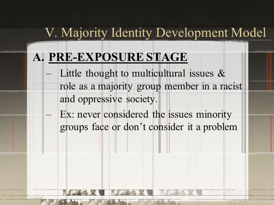 V. Majority Identity Development Model