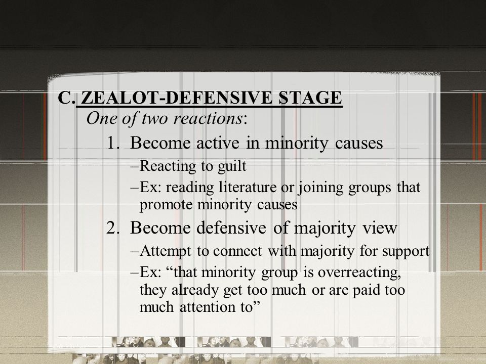 C. ZEALOT-DEFENSIVE STAGE One of two reactions: