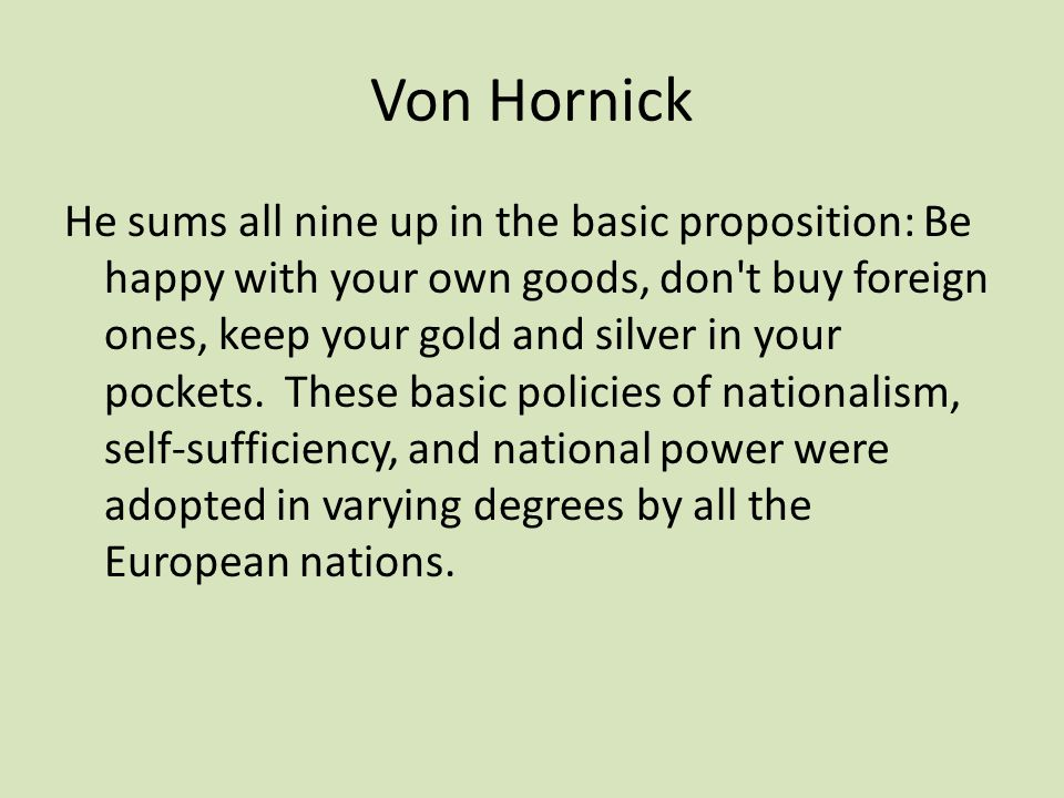 Von Hornick
