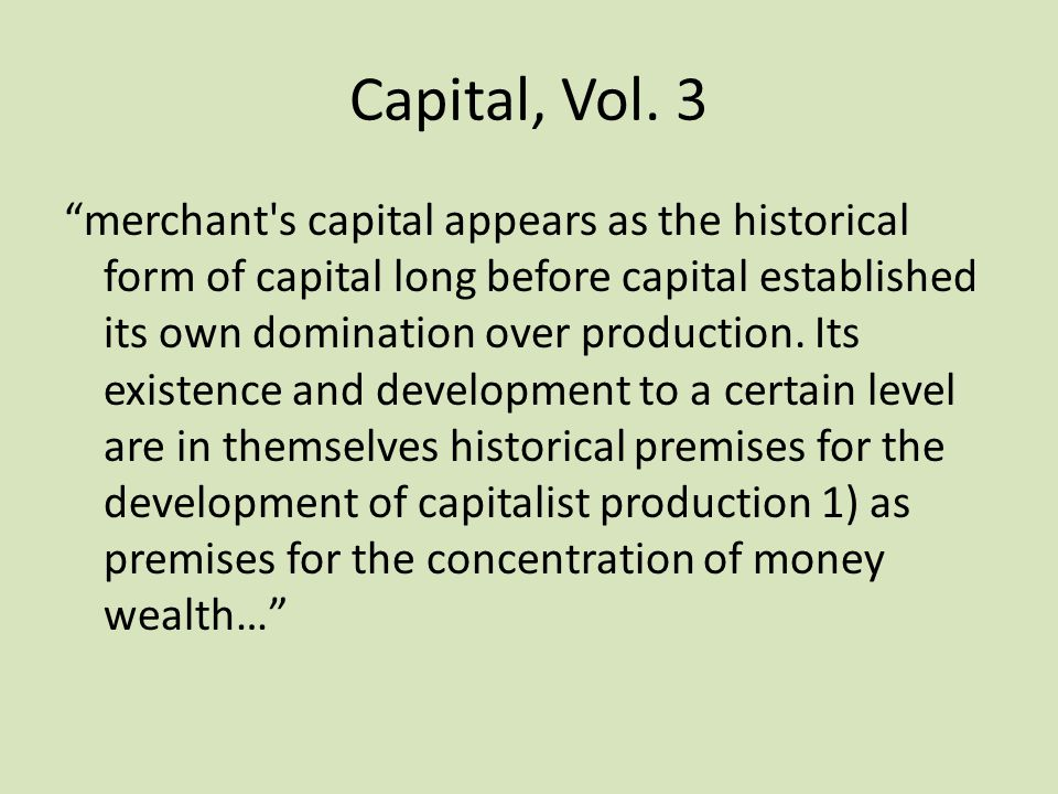 Capital, Vol. 3