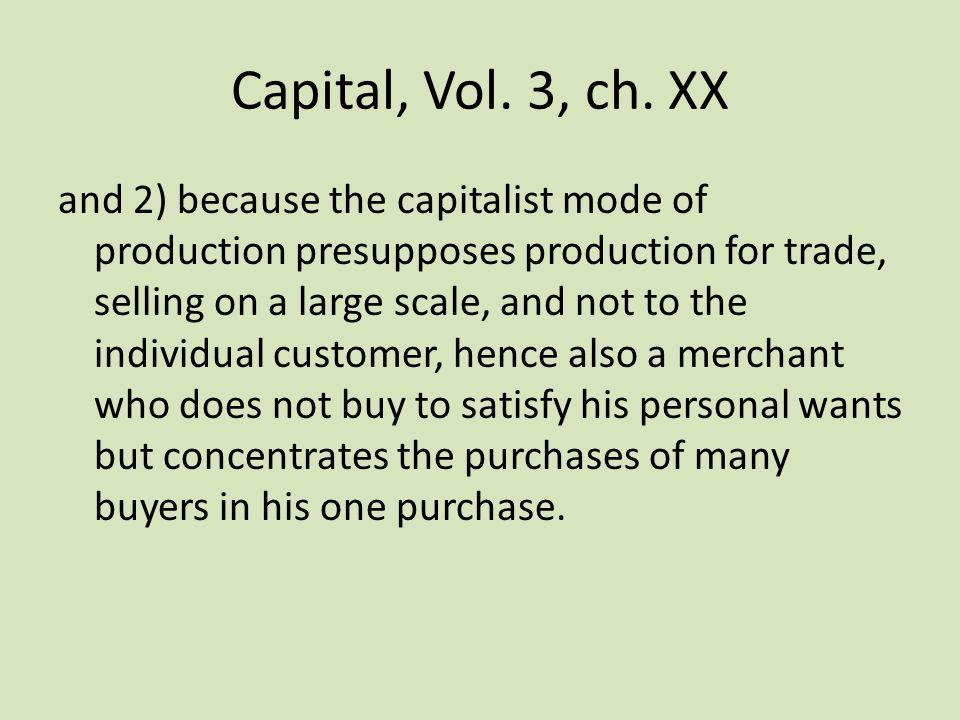 Capital, Vol. 3, ch. XX