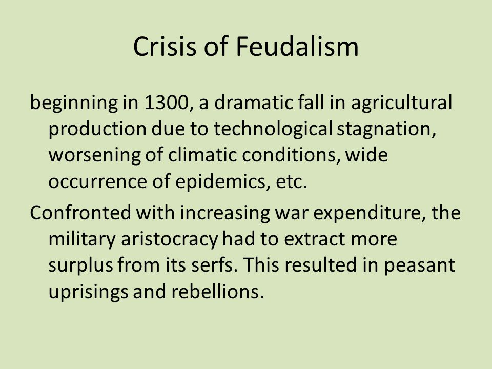 Crisis of Feudalism
