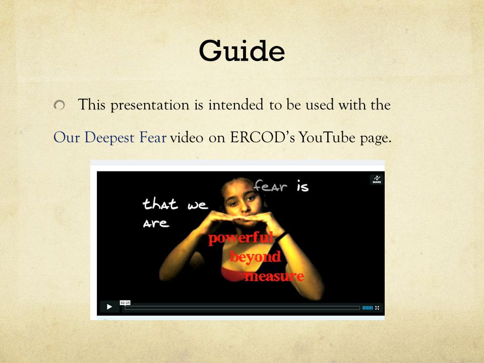 Guide This presentation is intended to be used with the