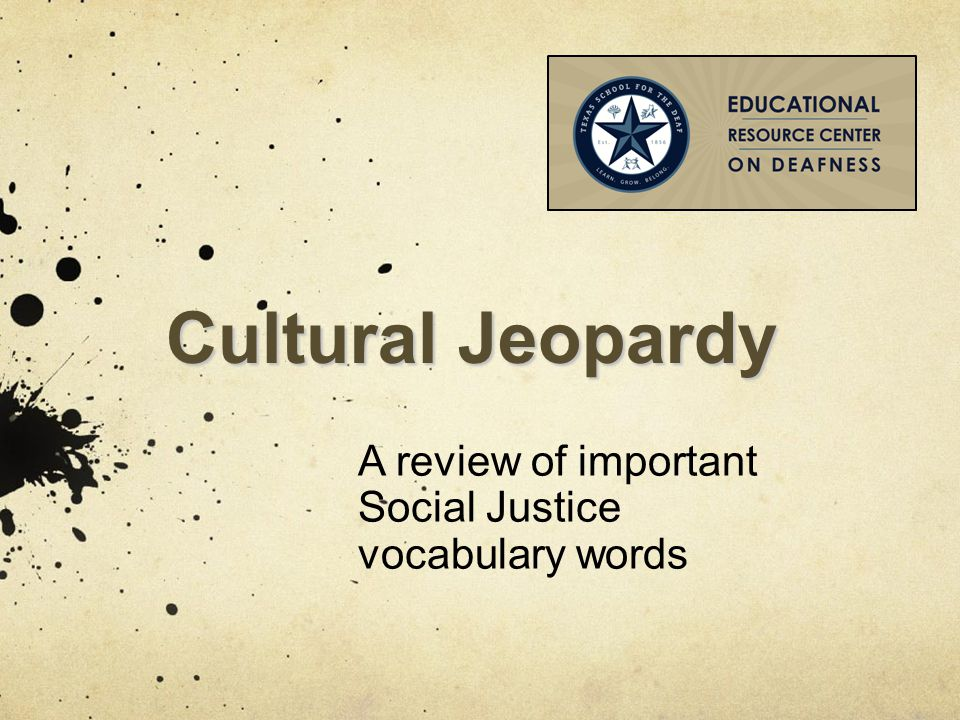 A review of important Social Justice vocabulary words