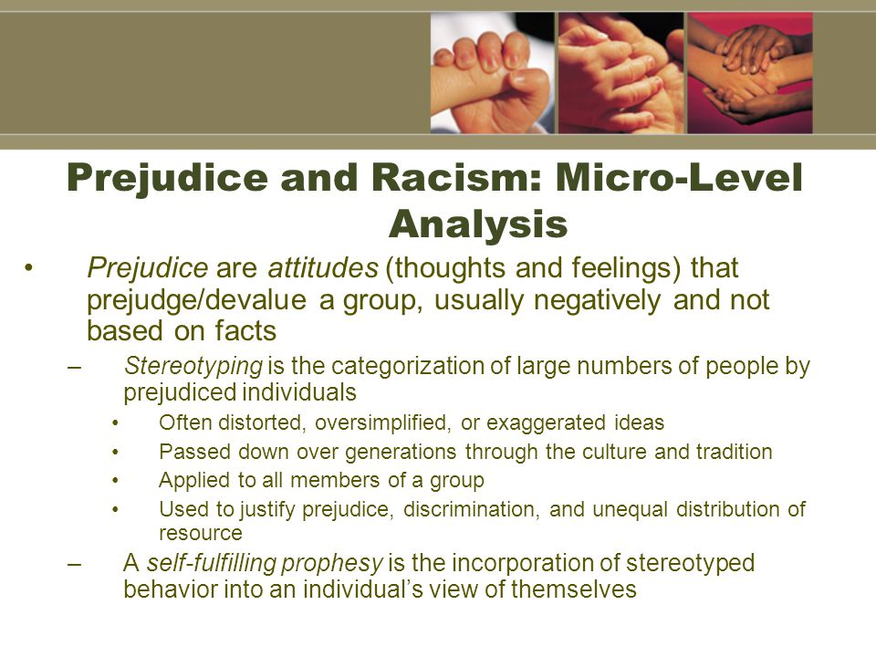 Prejudice and Racism: Micro-Level Analysis