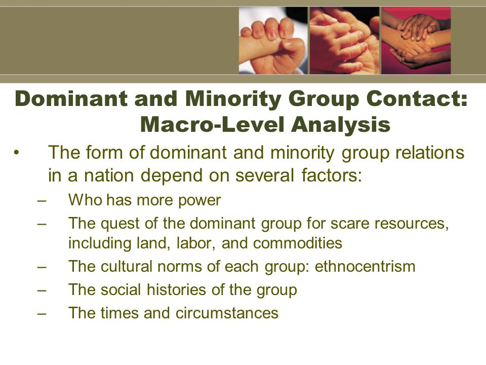 Dominant and Minority Group Contact: Macro-Level Analysis