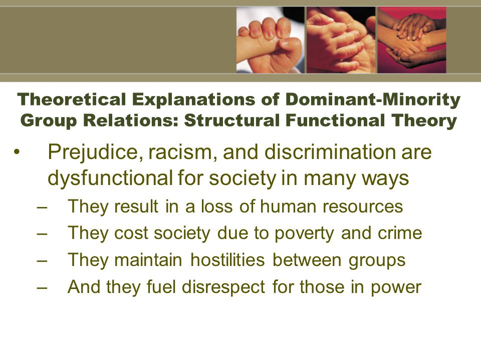 Theoretical Explanations of Dominant-Minority Group Relations: Structural Functional Theory