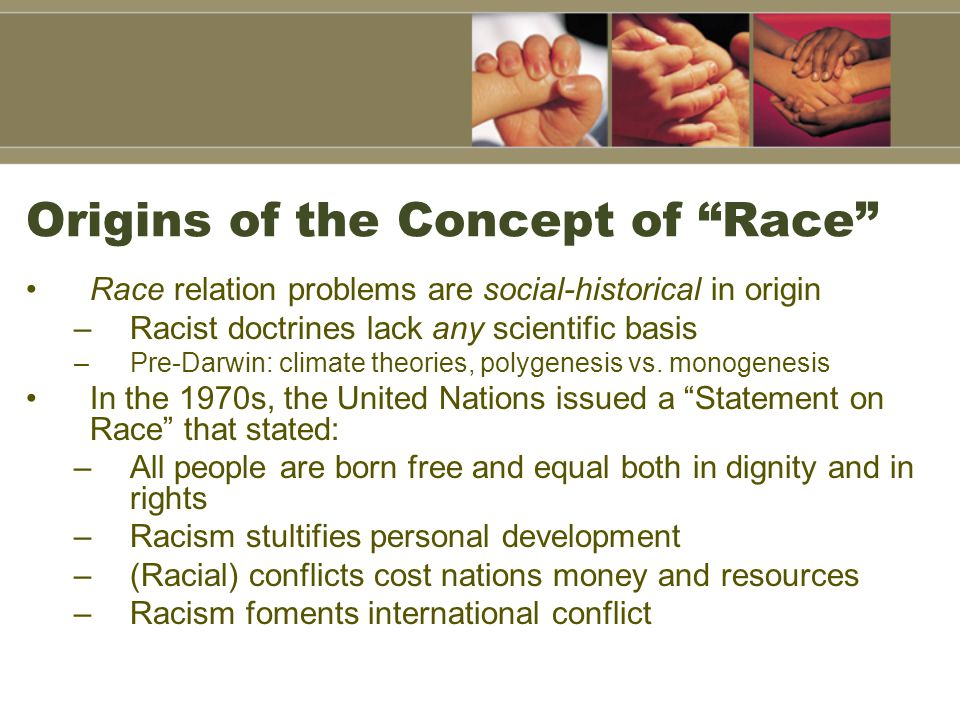Origins of the Concept of Race