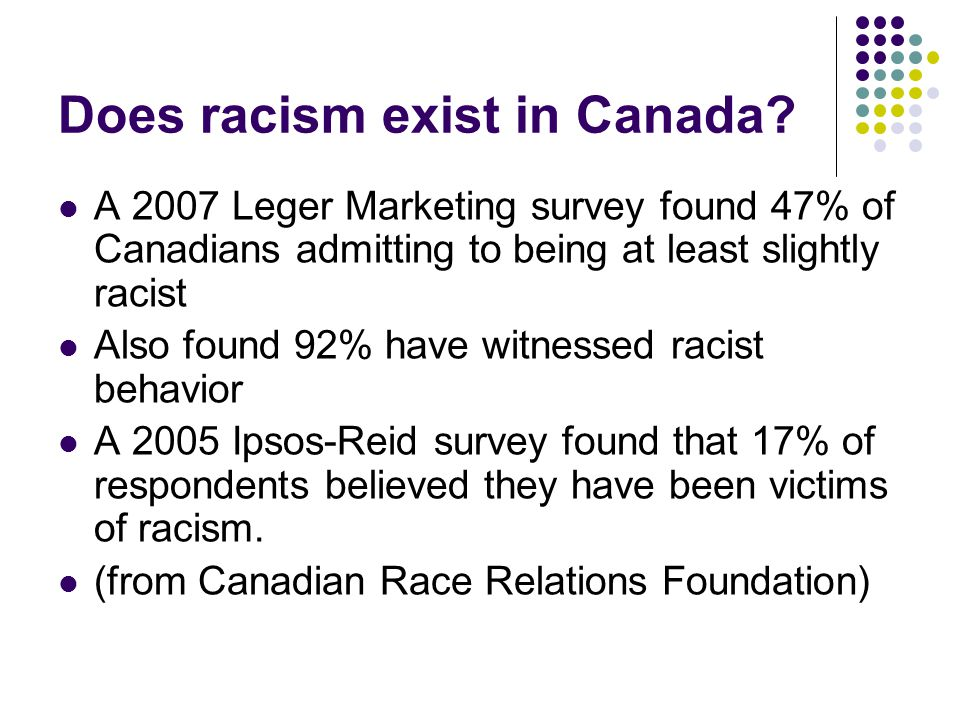 Does racism exist in Canada