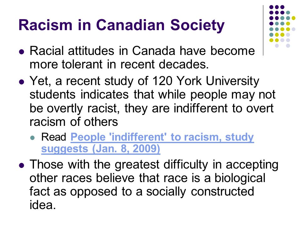 Racism in Canadian Society