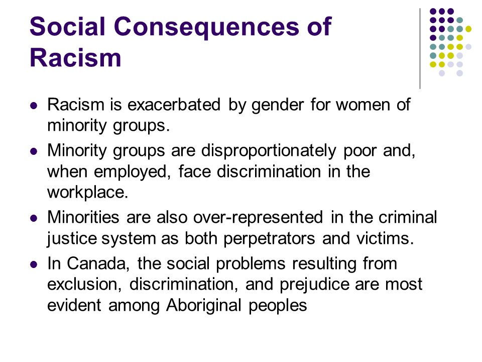 Social Consequences of Racism