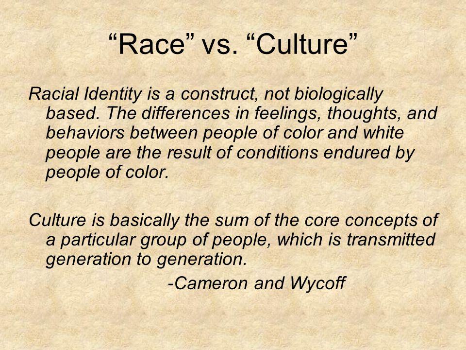 Race vs. Culture