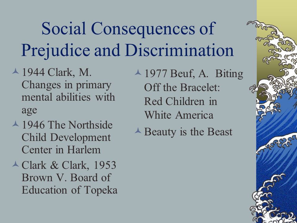 Social Consequences of Prejudice and Discrimination