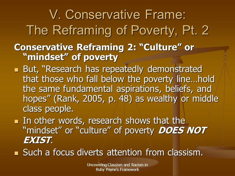 V. Conservative Frame: The Reframing of Poverty, Pt. 2