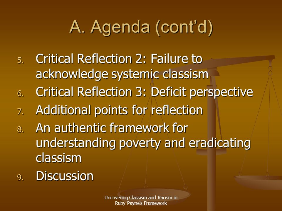 Uncovering Classism and Racism in Ruby Payne s Framework