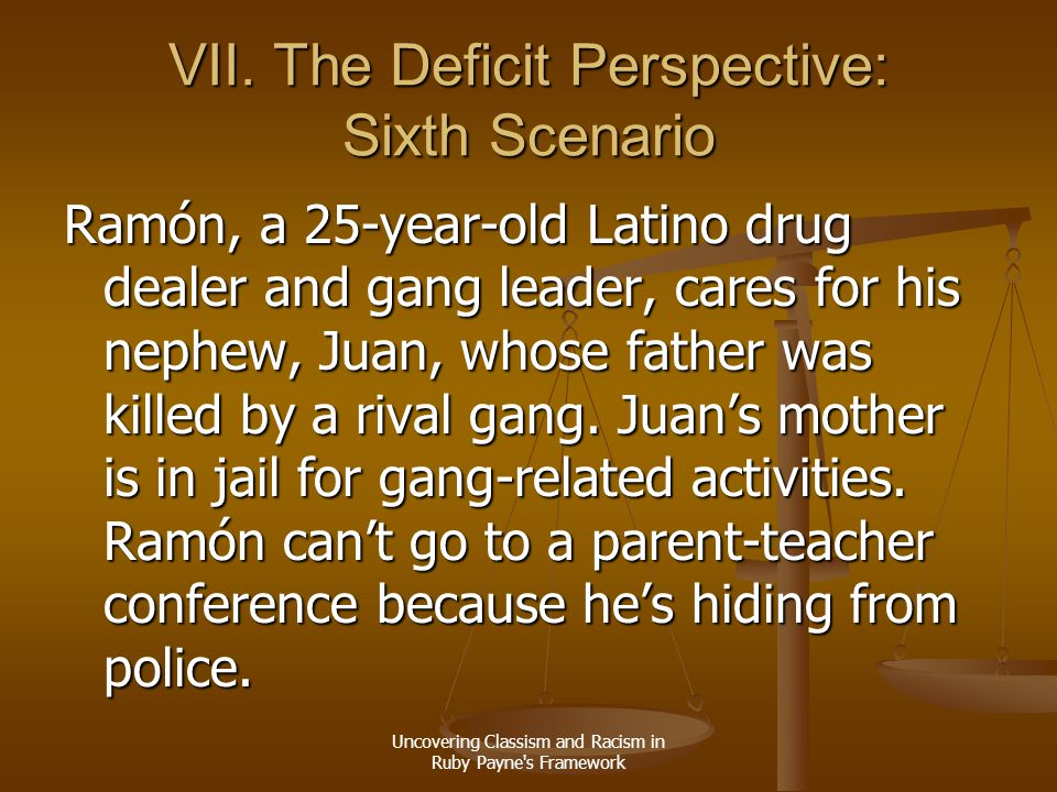 VII. The Deficit Perspective: Sixth Scenario