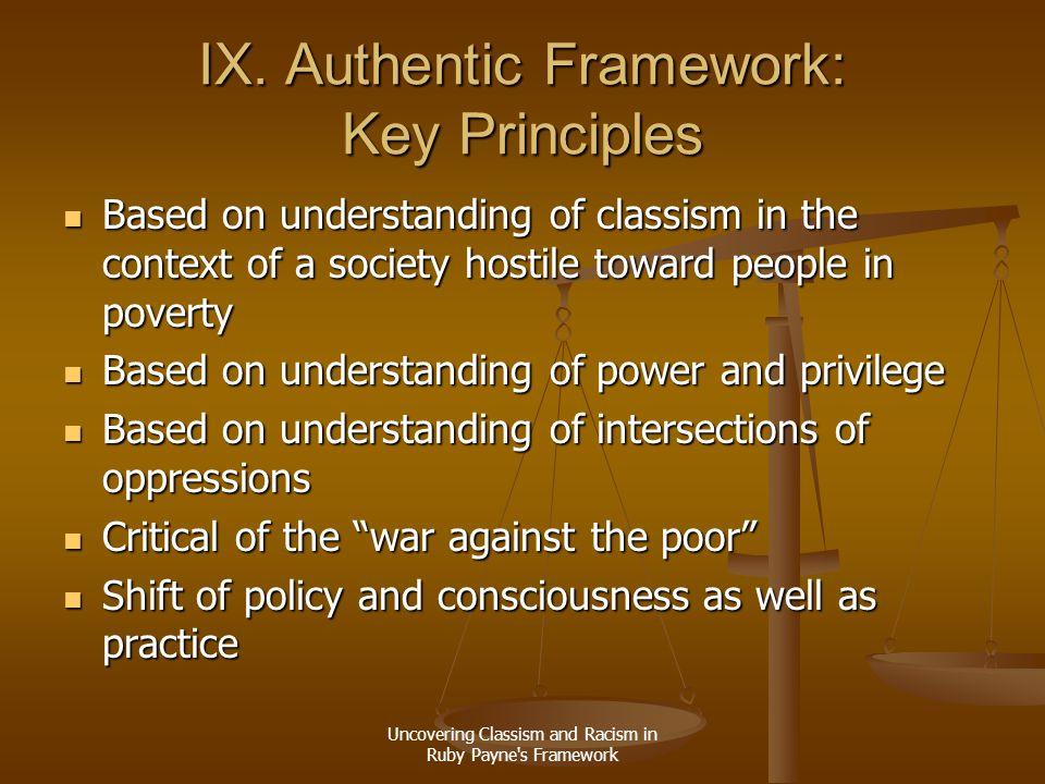 IX. Authentic Framework: Key Principles