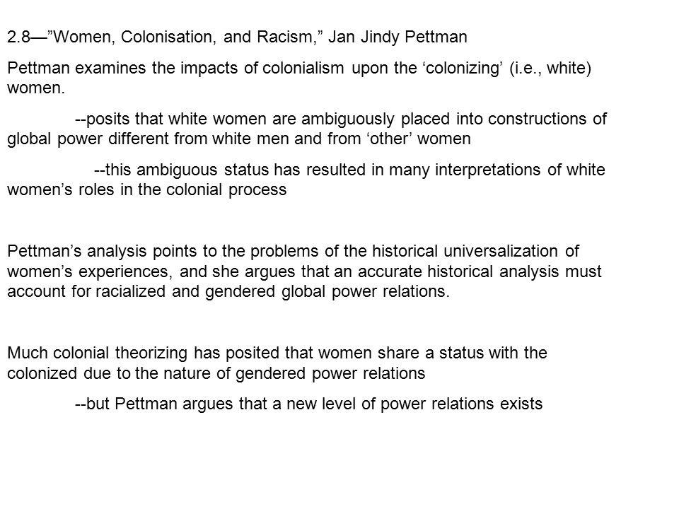 2.8— Women, Colonisation, and Racism, Jan Jindy Pettman