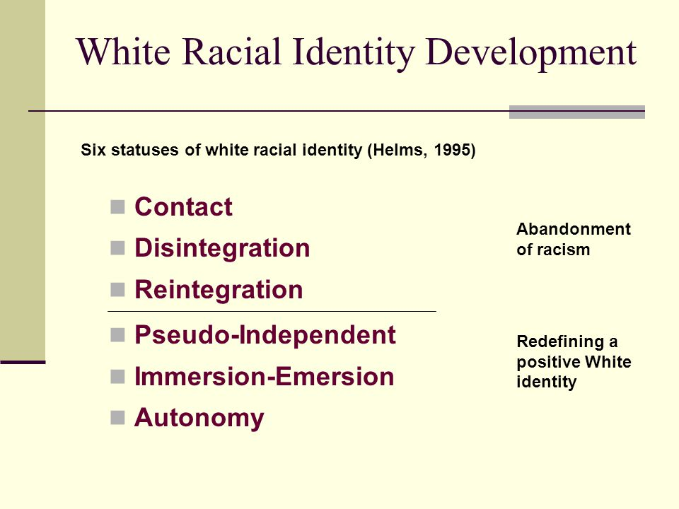 White Racial Identity Development