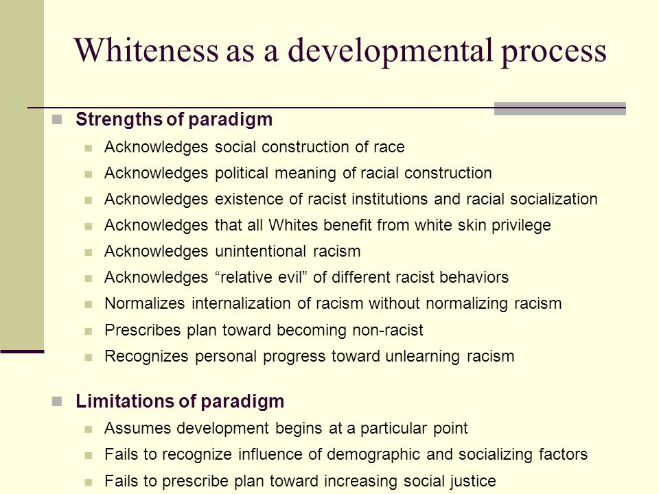 Whiteness as a developmental process