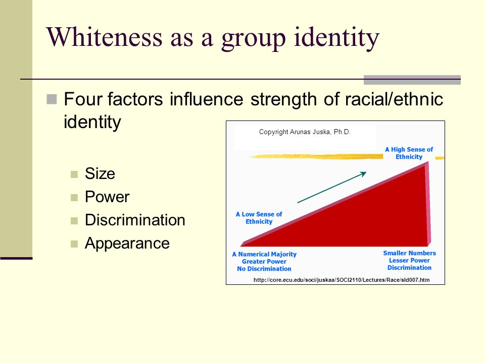 Whiteness as a group identity
