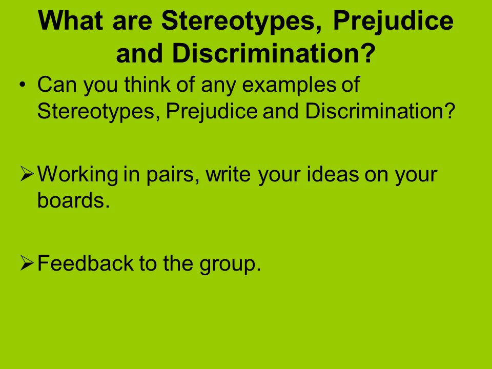 theories for prejudice discrimination and stereotyping A fascinating overview of research on the psychology of prejudice and discrimination the psychology of prejudice, stereotyping, and discrimination: an overview.