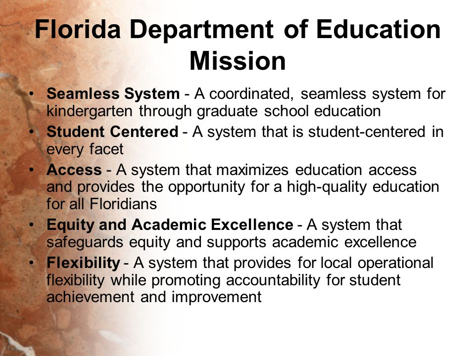 Florida Department of Education Mission