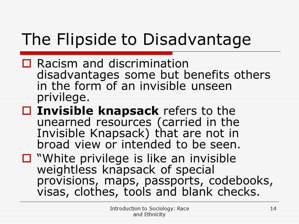 The Flipside to Disadvantage