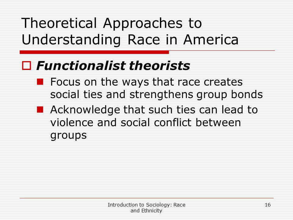 Theoretical Approaches to Understanding Race in America
