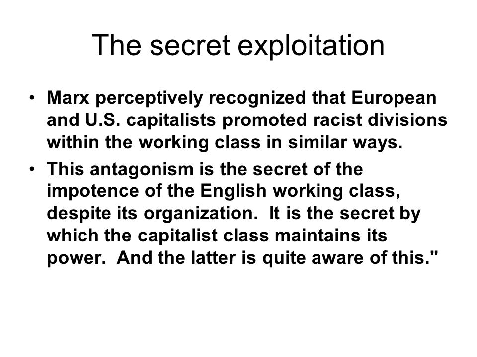 The secret exploitation