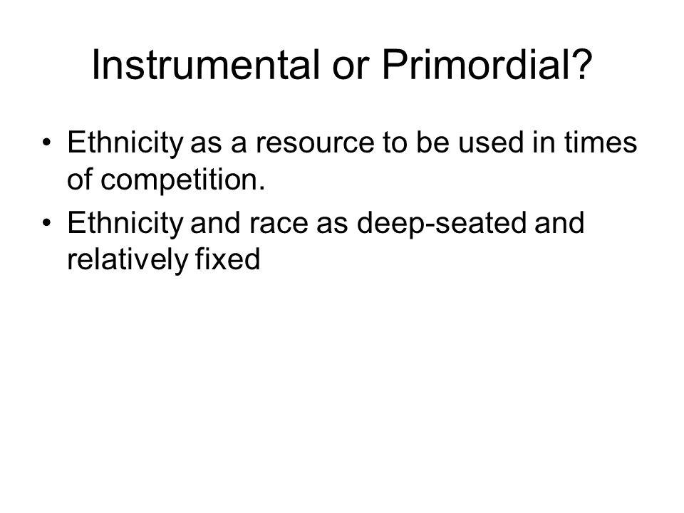 Instrumental or Primordial