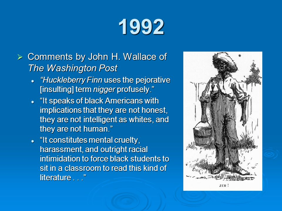 1992 Comments by John H. Wallace of The Washington Post
