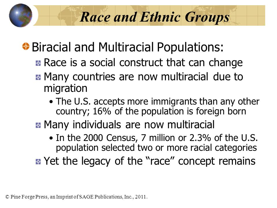 Race and Ethnic Groups Biracial and Multiracial Populations: