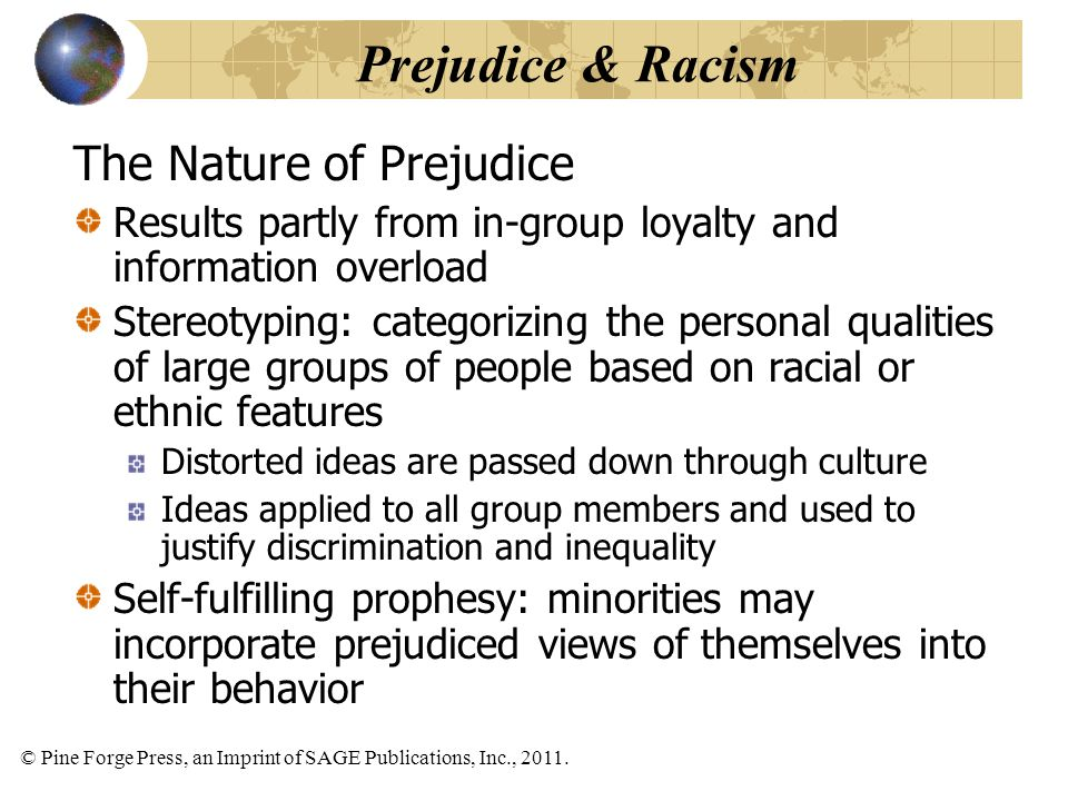 Prejudice & Racism The Nature of Prejudice