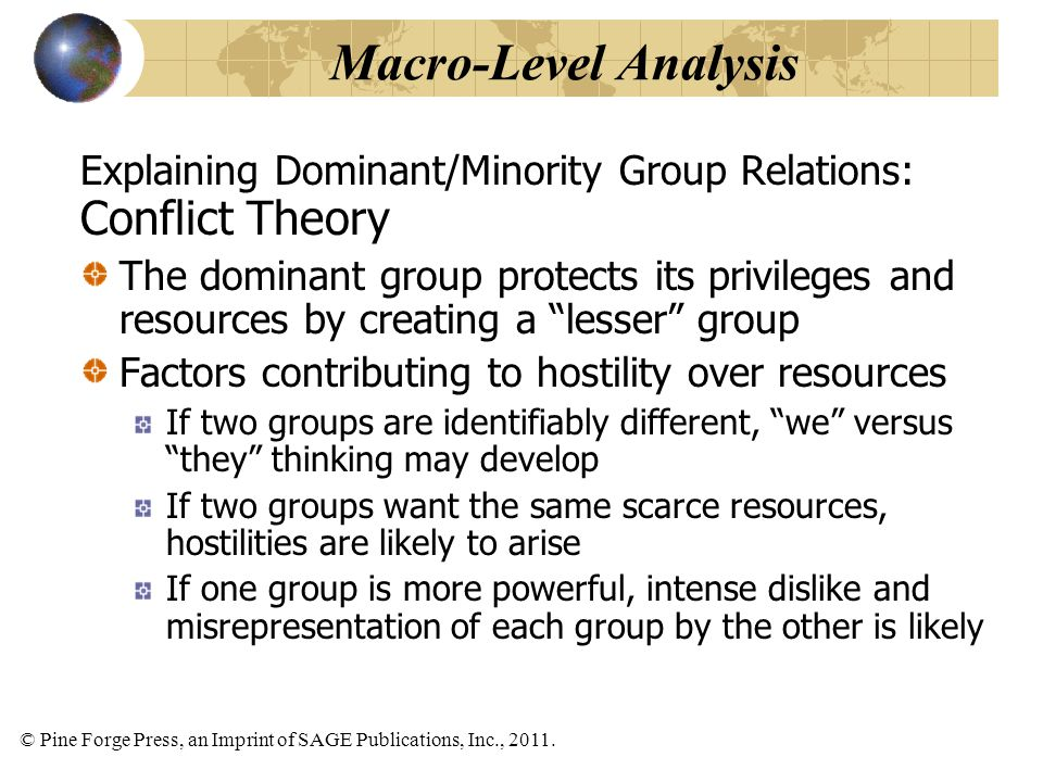 Macro-Level Analysis Conflict Theory