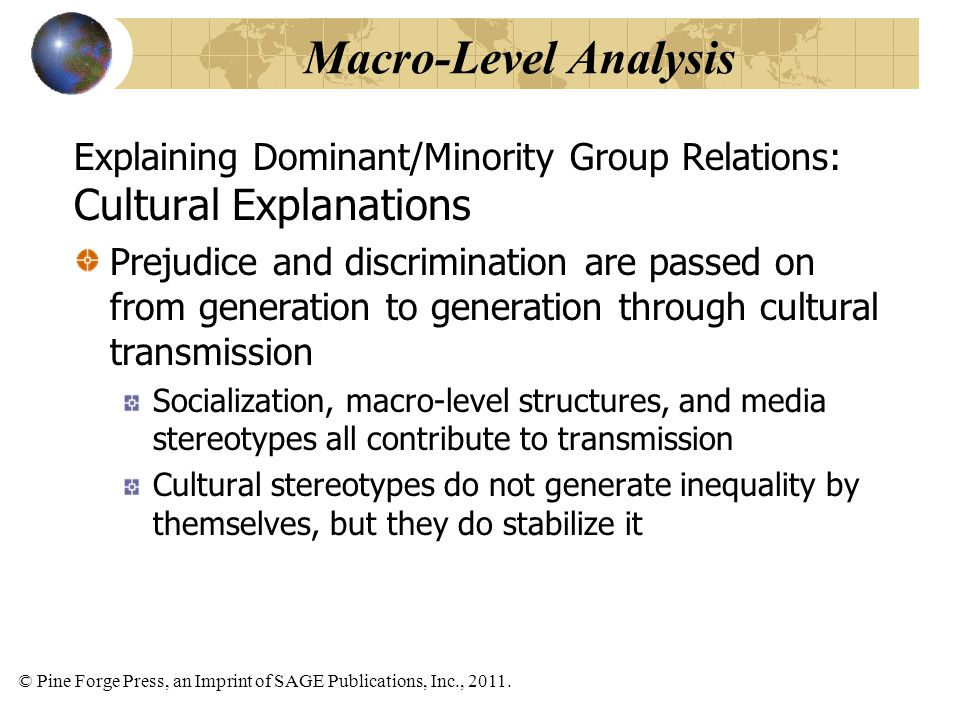Macro-Level Analysis Cultural Explanations