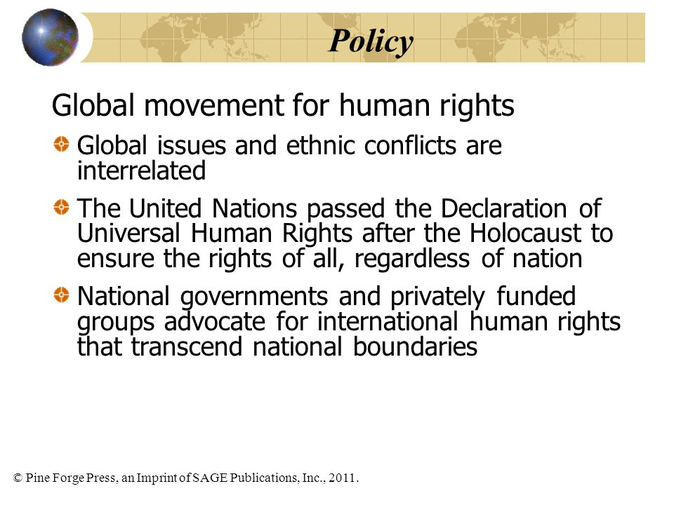 Policy Global movement for human rights