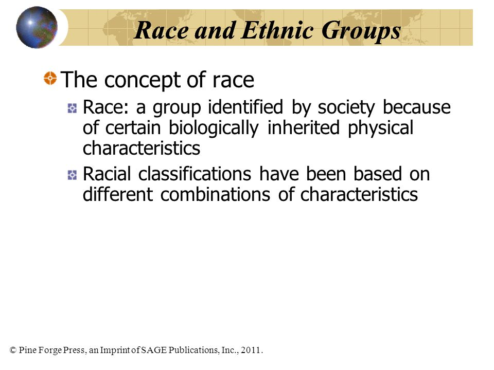 Race and Ethnic Groups Race and Ethnic Groups