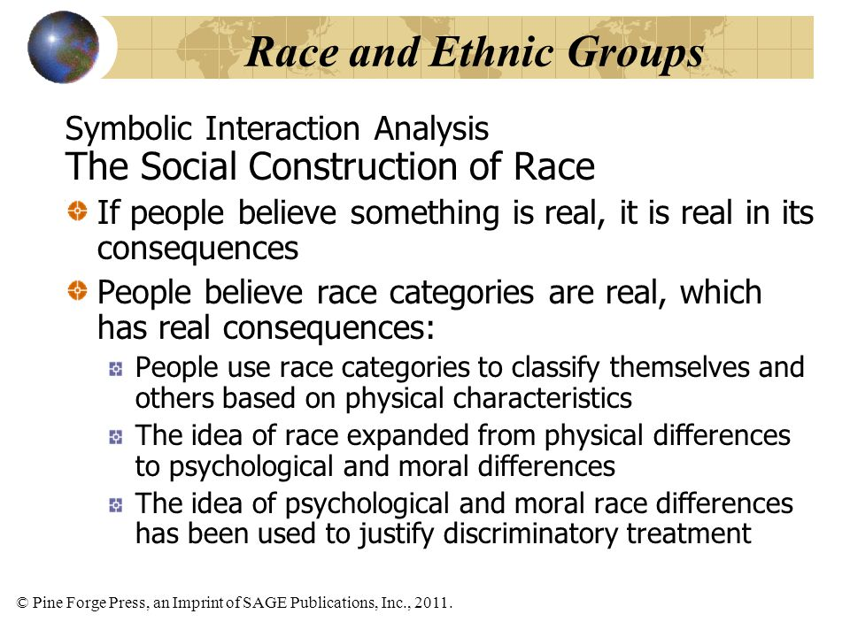 Race and Ethnic Groups The Social Construction of Race