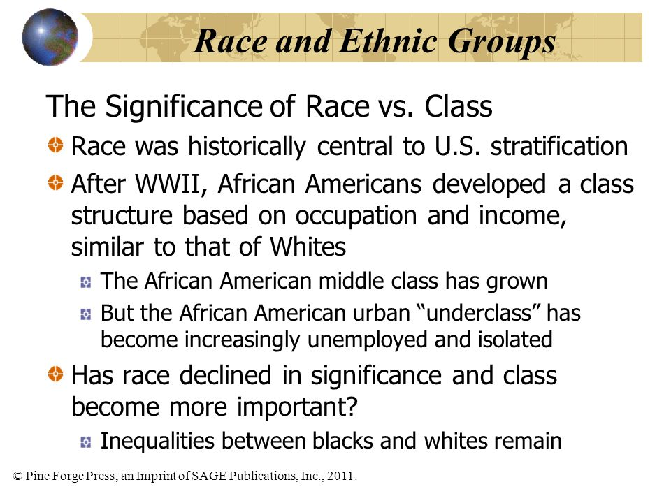 Race and Ethnic Groups The Significance of Race vs. Class
