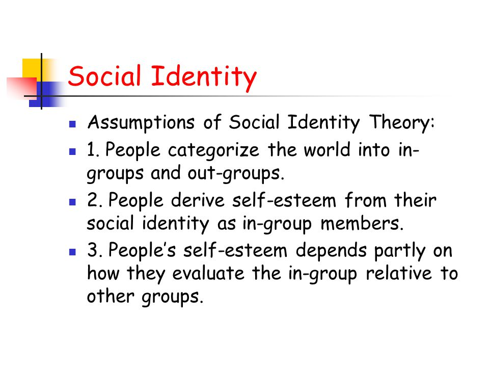 evaluation of social identity theory making From groups to grits: social identity shapes evaluations of food pleasantness  suggests a possible bridge between the effects of social identity on evaluation.
