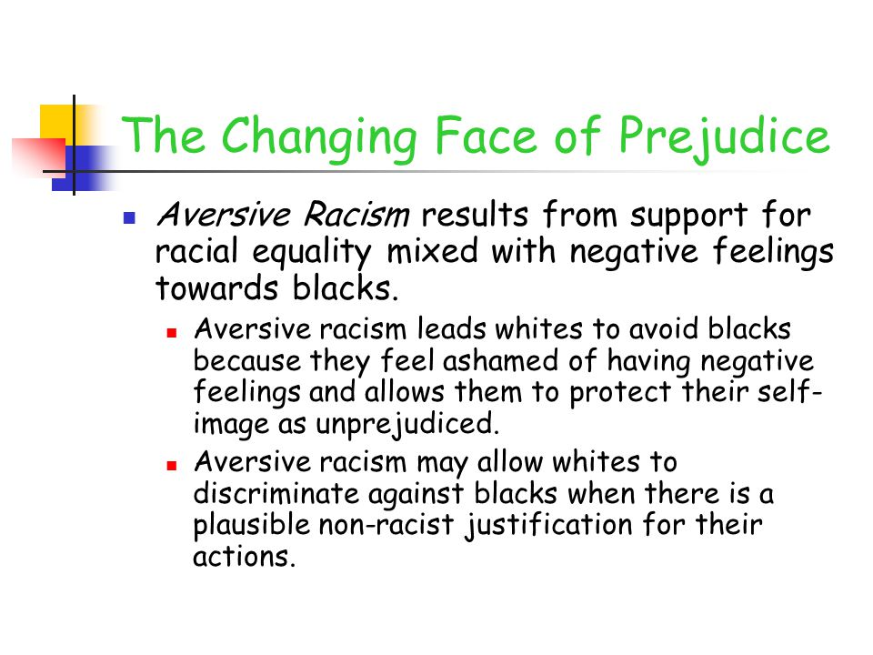 The Changing Face of Prejudice