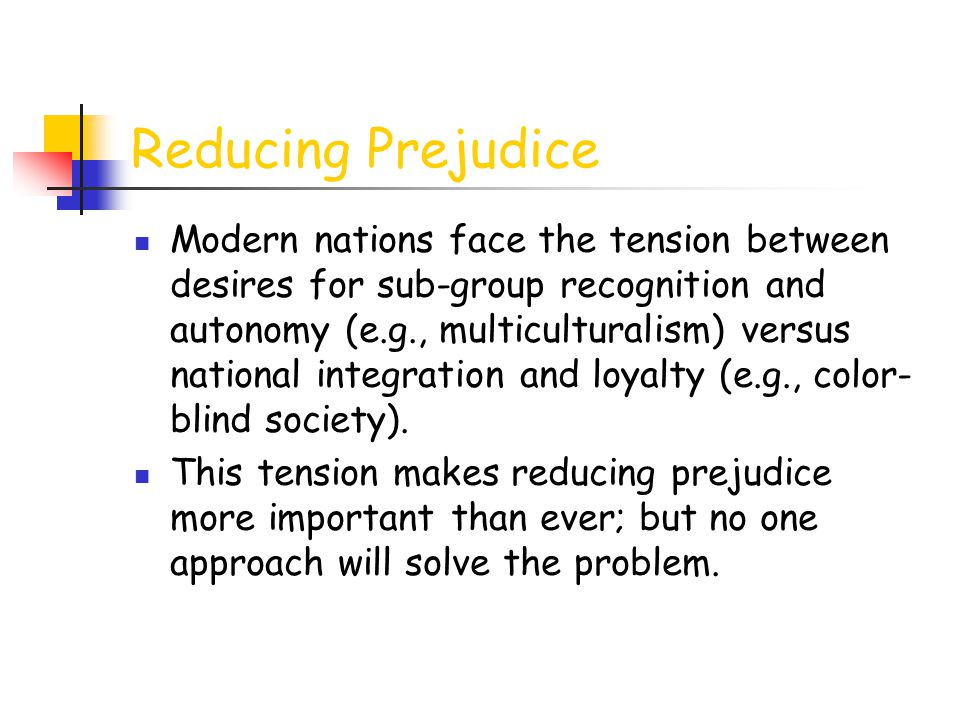 Reducing Prejudice