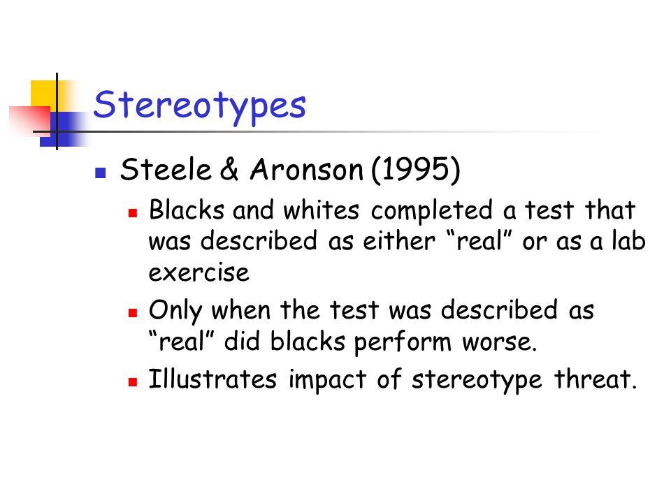 Stereotypes Steele & Aronson (1995)