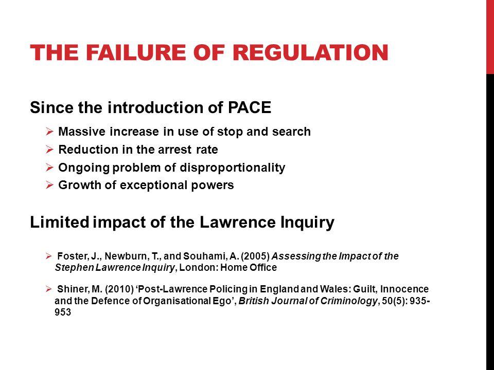 The failure of regulation