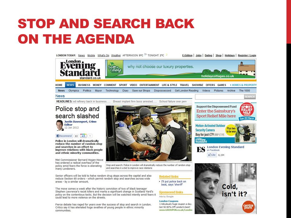 Stop and search back on the agenda